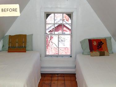Antes y después: transformando un dormitorio con un poco de pintura