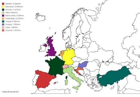 Mapa Europa Carreteras