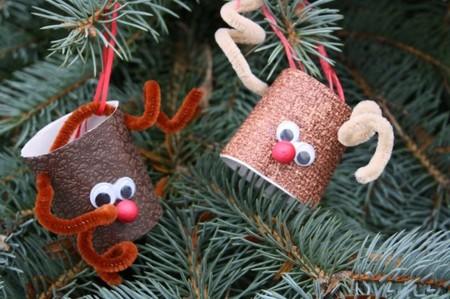 Manualidades Navidad Renos Tubo Papel