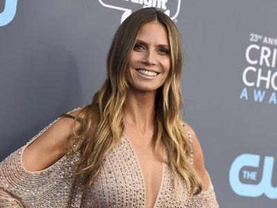 Heidi Klum se mantiene fiel a su estilo en los Critics'Choice Awards 2018: las aberturas lo son todo