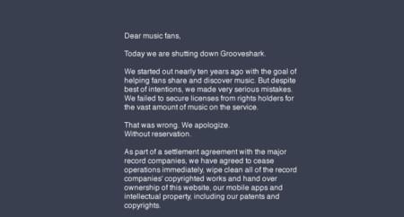 Comunicado Grooveshark
