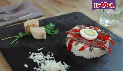 Ensalada de arroz con anchoas y atún Isabel [videoreceta]