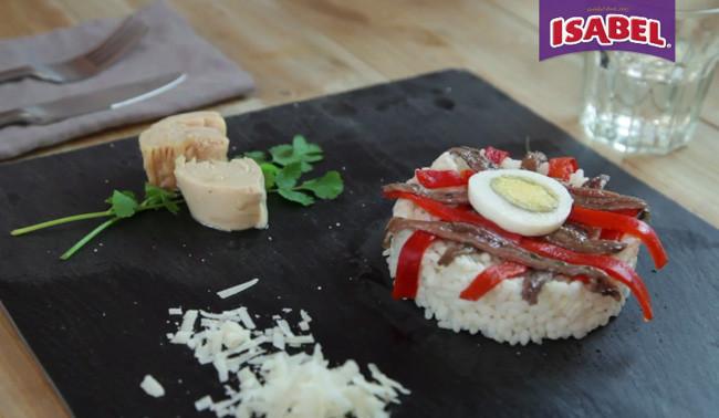 Ensalada de arroz con atún y anchoas - 1