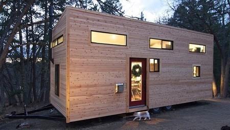 Casas poco convencionales: 20 metros cuadrados, de madera y sobre ruedas