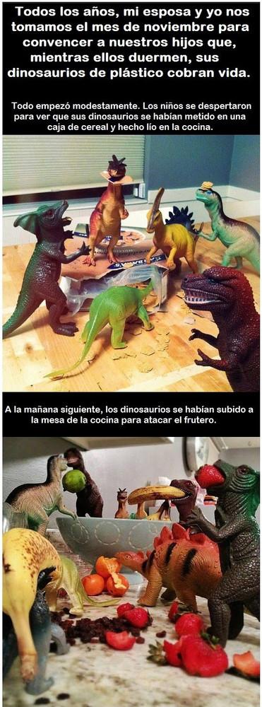Unos Padres Demuestran A Sus Hijos Que Sus Dinosaurios Cobran Vida Por La Noche ¿hay dinosaurios vivos en la ualidad? sus dinosaurios cobran vida por la noche