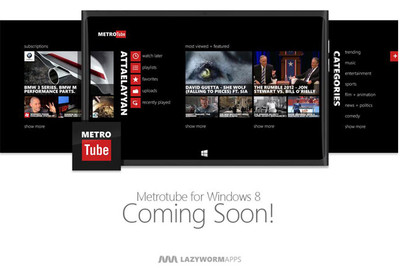 Metrotube pronto tendrá su versión para Windows 8