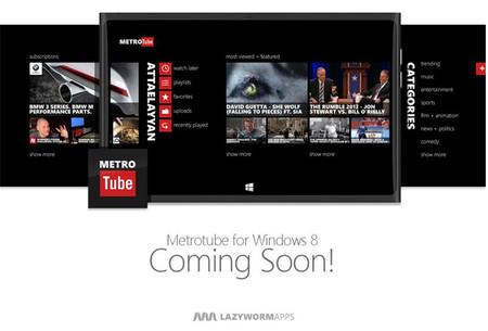 Metrotube pronto tendrá su versión para Windows 8
