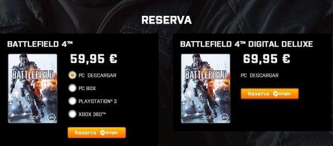 Reserva de Battlefield 4