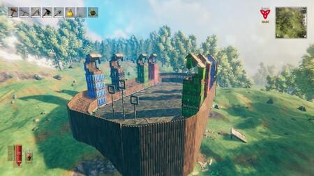 Este jugador está creando un mapa de Valheim con los edificios más famosos del Hogwarts de Harry Potter