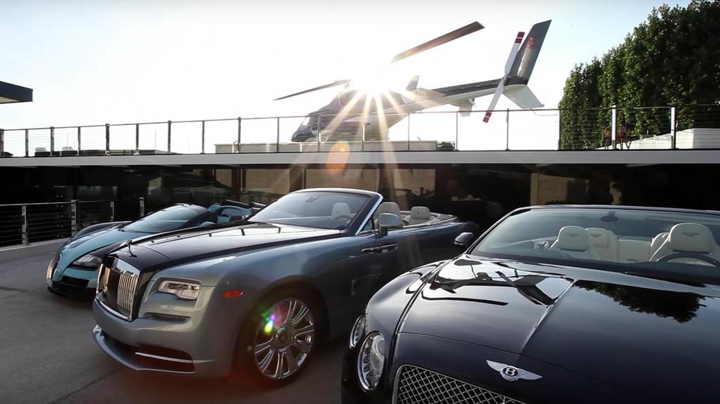 Mansión con colección de coches Pagani, Bugatti, Bentley