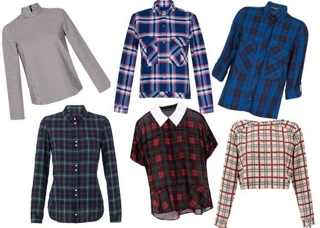 camisas zara tartan coleccion otoño 2013