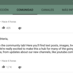 Comunidad de YouTube, así es la nueva sección que trae publicaciones al portal de vídeos