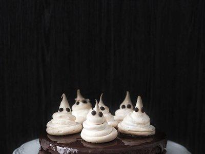 Tarta fantasmagórica. Receta de Halloween