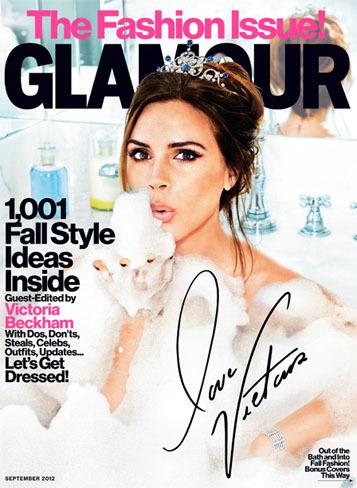 "Victoria Beckham, todo ""acqua e sapone"" en portada del número de septiembre de la revista Glamour"