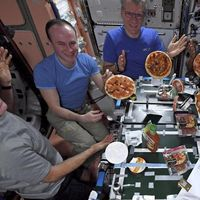 Esta fue la primera persona que ha logró comer pizza en el espacio