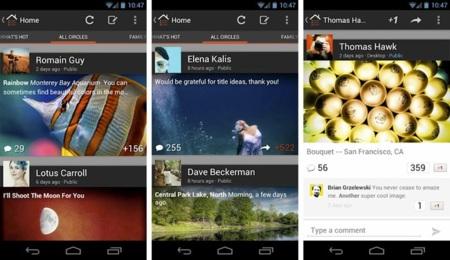 La nueva aplicación oficial de Google+ ya está disponible para Android