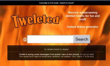 Tweleted, recuperando twits borrados