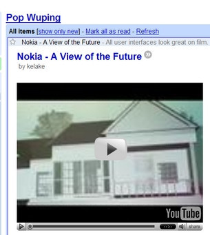 Google Reader ya reproduce vídeos
