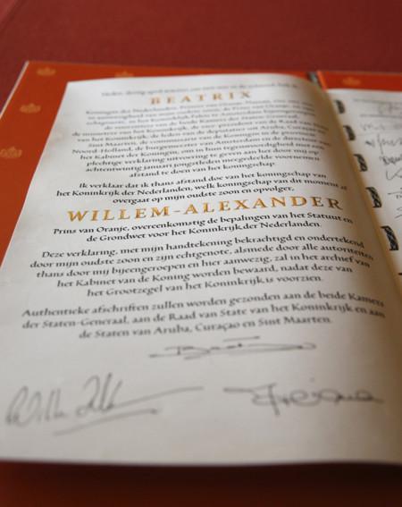 Firmas Acta holanda abdicacion