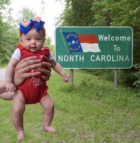 Harper se va a convertir en la persona más joven en recorrer todos los Estados Unidos antes de cumplir seis meses