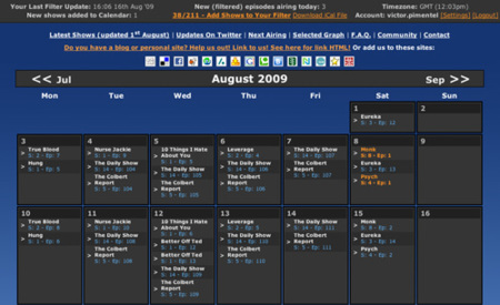Calendario para series desde TV Calendar