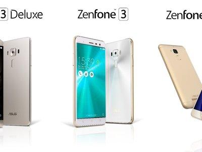 ASUS por fin trae sus smartphones a México: Zenfone 3, Zenfone 3 Deluxe y Zenfone 3 Max