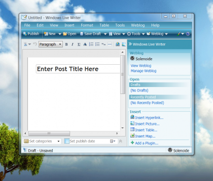 Windows Live Writer Beta 2 disponible para descargar