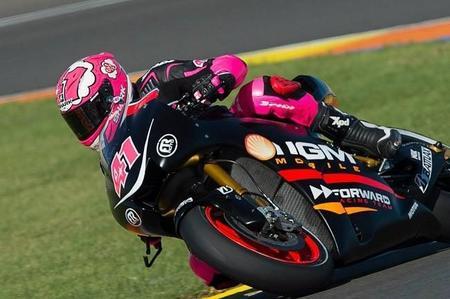 Aleix Espargaró en el Circuito Ricardo Tormo en el último día de test