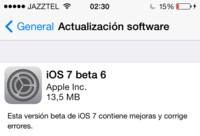 Apple lanza iOS 7 beta 6, siguen acelerando para llegar a la versión final