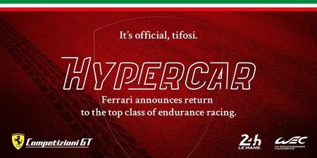Ferrari regresará a Le Mans con equipo propio a la categoría de Hypercars en 2023