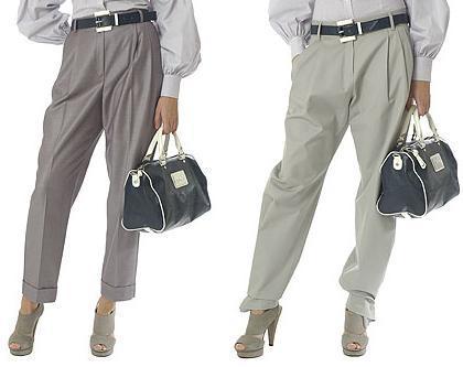 El estilo de primavera perfecto para ir a trabajar: pantalón de pinza tipo baggy