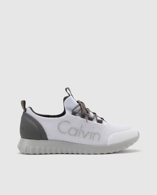 Zapatillas de lona de hombre Calvin Klein en blanco con logo lateral
