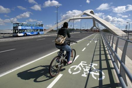 Zaragoza en bici