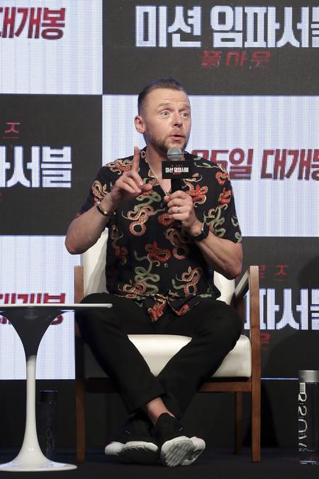 Gucci Parece Pero No Lo Es Simon Pegg Premiere Mission Imposible Seoul Korea 02