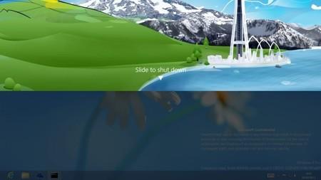 Deslizar para apagar, una característica oculta en Windows Blue