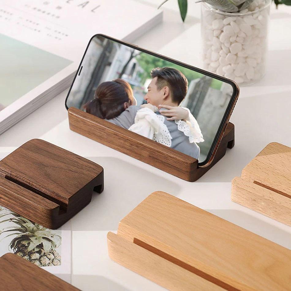 Soporte de teléfono de madera Universal