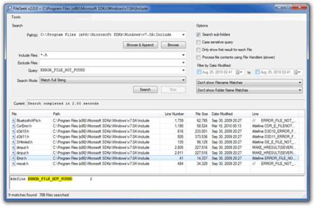 FileSeek busca expresiones regulares en el contenido de tus archivos