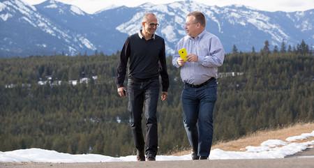 Satya Nadella y Stephen Elop