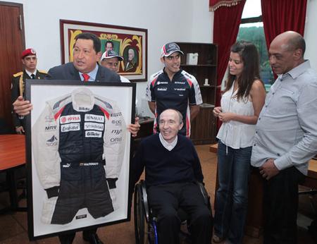 Frank Williams de visita en Venezuela