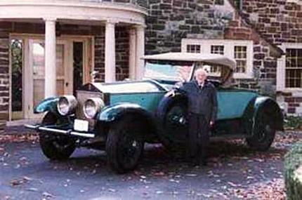 Allen Swift y su Rolls-Royce Picadilly P1 Roadster