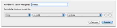 Cómo agrupar todos los vídeos de iPhoto bajo un álbum
