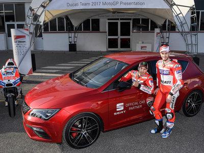 El SEAT León Cupra será el coche oficial de Ducati en MotoGP