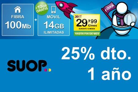 Fibra y móvil sin competencia durante 1 año, la nueva promoción de SUOP