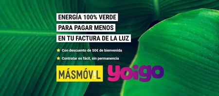 El Grupo MásMóvil quiere impulsar su energía con hasta 50 euros de descuento en EnergyGo de Yoigo y MásMóvil Energía