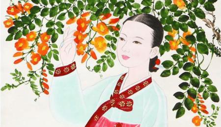 Belleza coreana tradicional