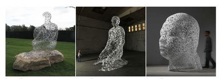 Tres esculturas Plensa en Paris