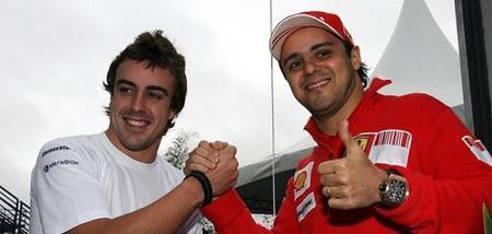 Felipa Massa promete lucha en su duelo con Fernando Alonso