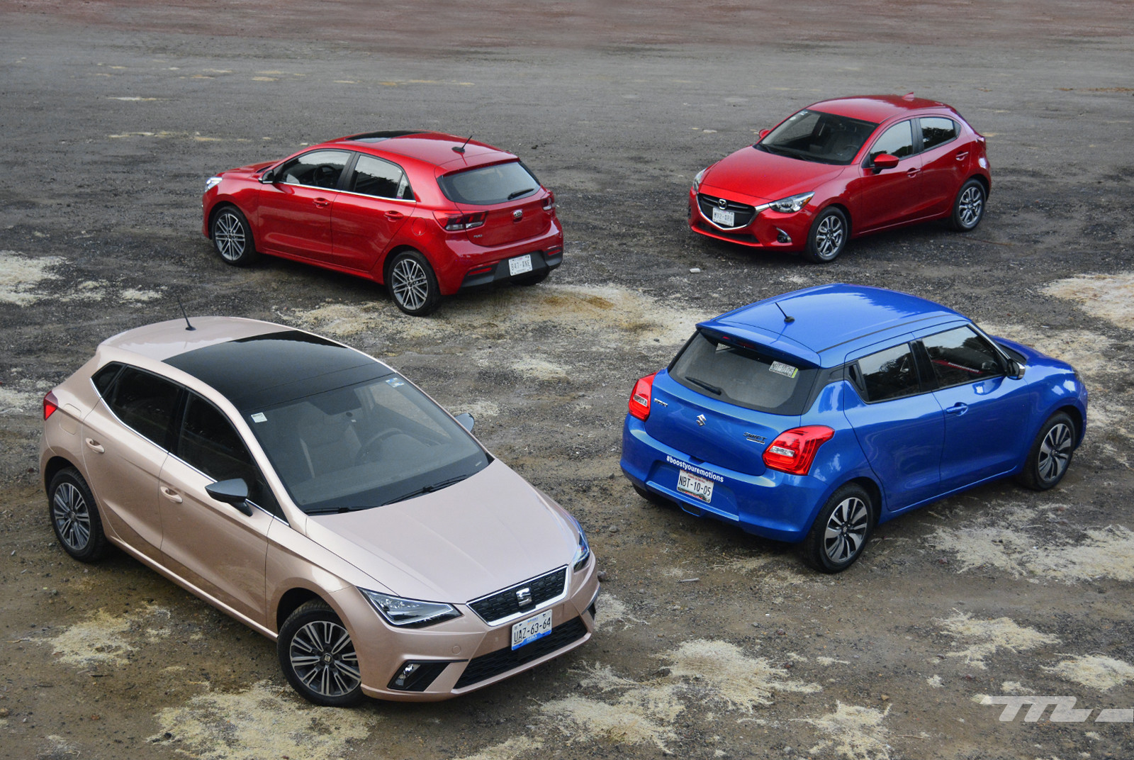 Foto de SEAT Ibiza vs. Suzuki Swift vs. KIA Rio vs. Mazda2 (comparativa) (1/20)