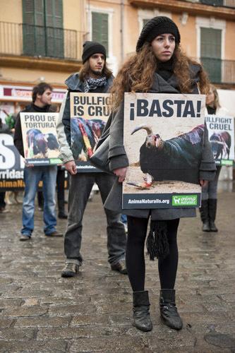 Manifestación antitaurina Palma