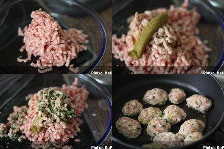 Receta de salchichas de cerdo con curry verde. Pasos